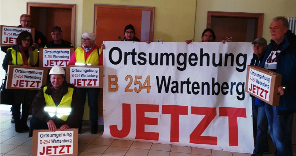 Klares Bekenntnis zur Ortsumgehung des Bürgerbündnisses bei der Kreistagssitzung am 11. November 2019 in Romrod.